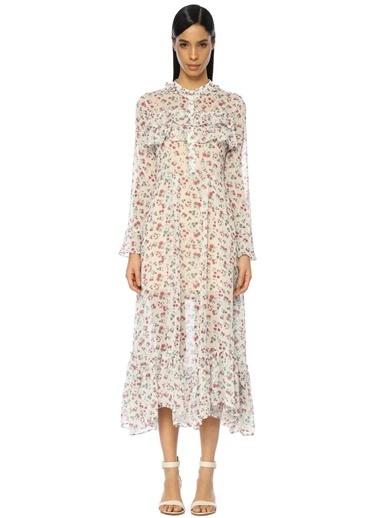 Uzun Çiçekli Elbise-Endless Rose